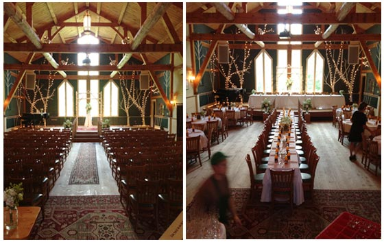 Ceremony And Reception In Same Room: Stone Mountain Arts Center